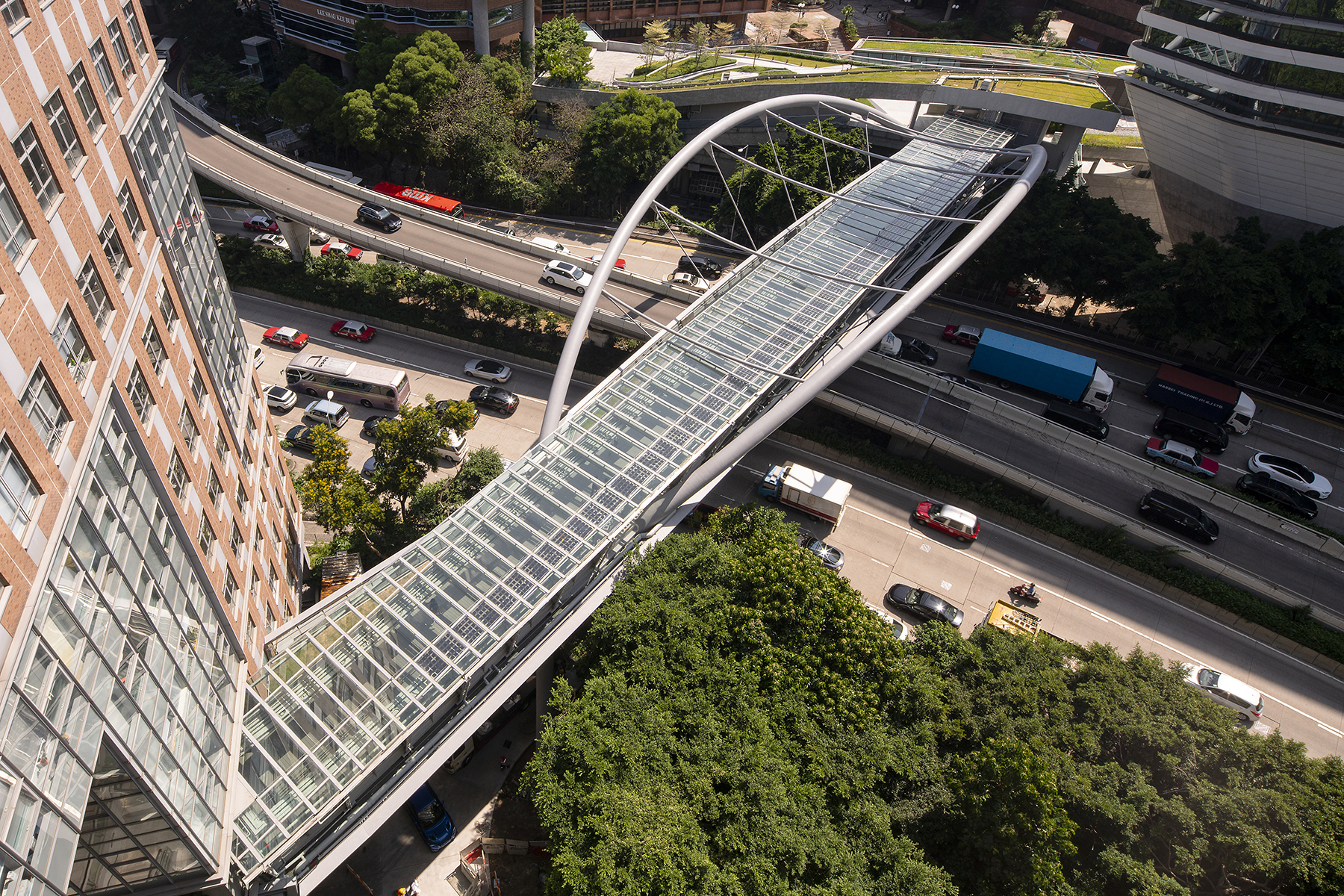 香港理工大學 連接8期校園行人天橋